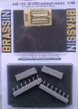 ED648153 1/48 Messerschmitt Bf 109G-6 exhaust stacks